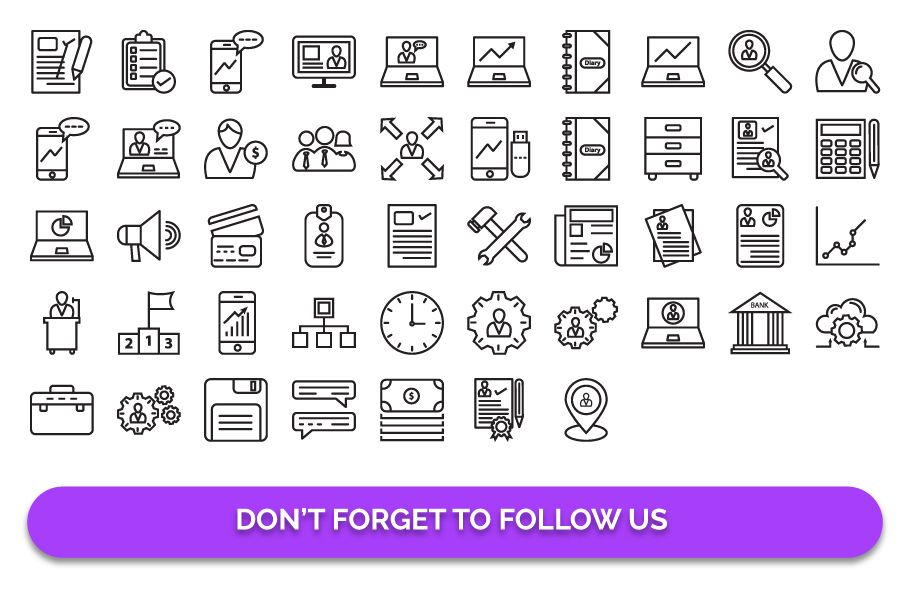 97 Corporate Vector Icons Pack  Screenshot 4