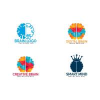 Set of Brain Logo