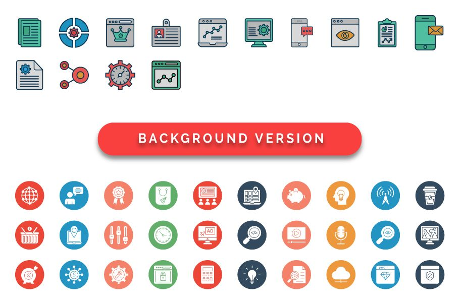 50 Web and SEO Vector Icons pack Screenshot 2