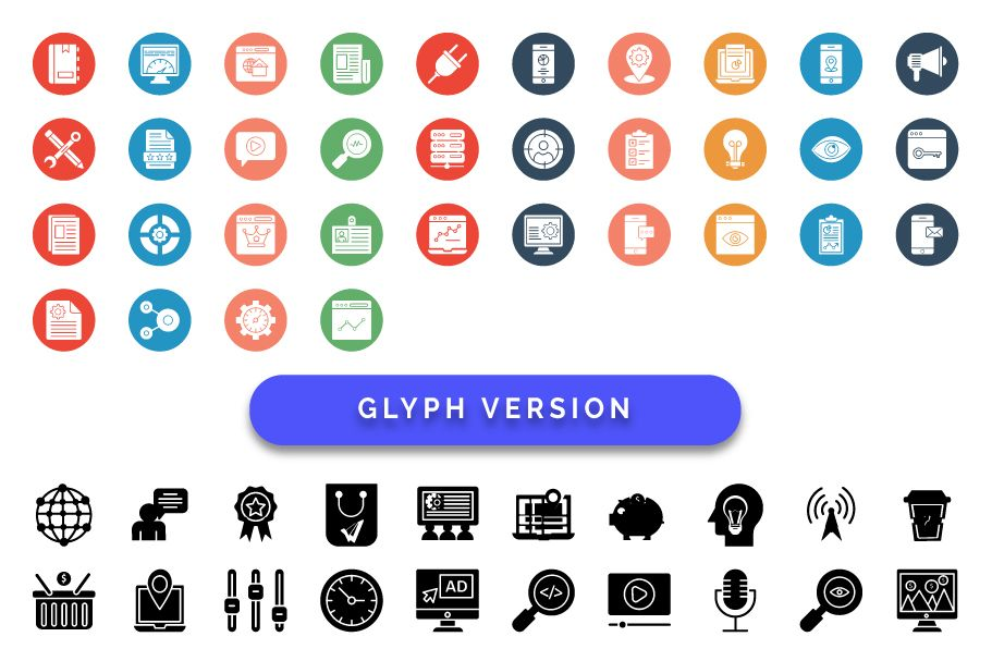 50 Web and SEO Vector Icons pack Screenshot 3