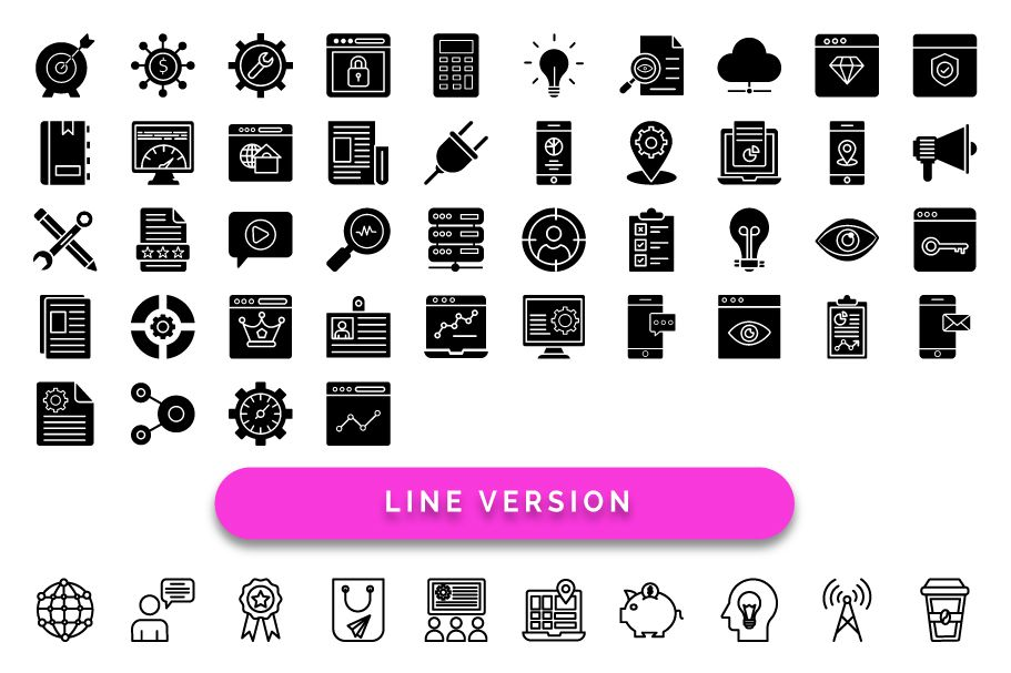 50 Web and SEO Vector Icons pack Screenshot 4