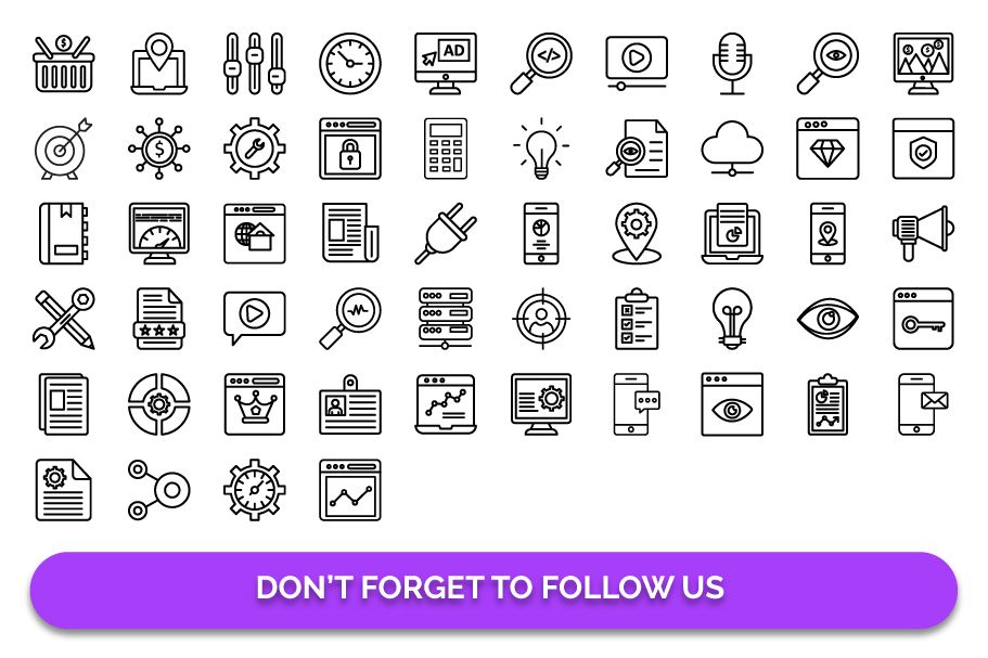 50 Web and SEO Vector Icons pack Screenshot 5