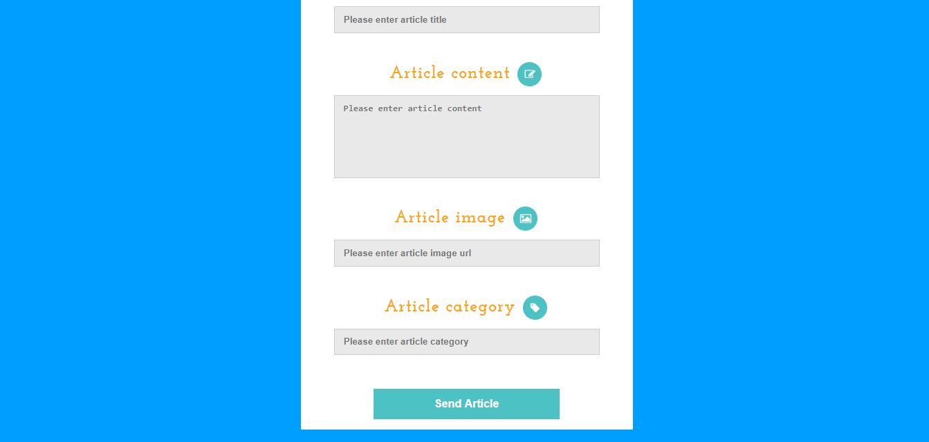 PHP & JQuery submit article form Screenshot 2