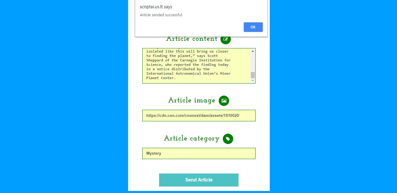 PHP & JQuery submit article form Screenshot 6