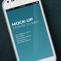 Mobile Mock-Up PSD Template