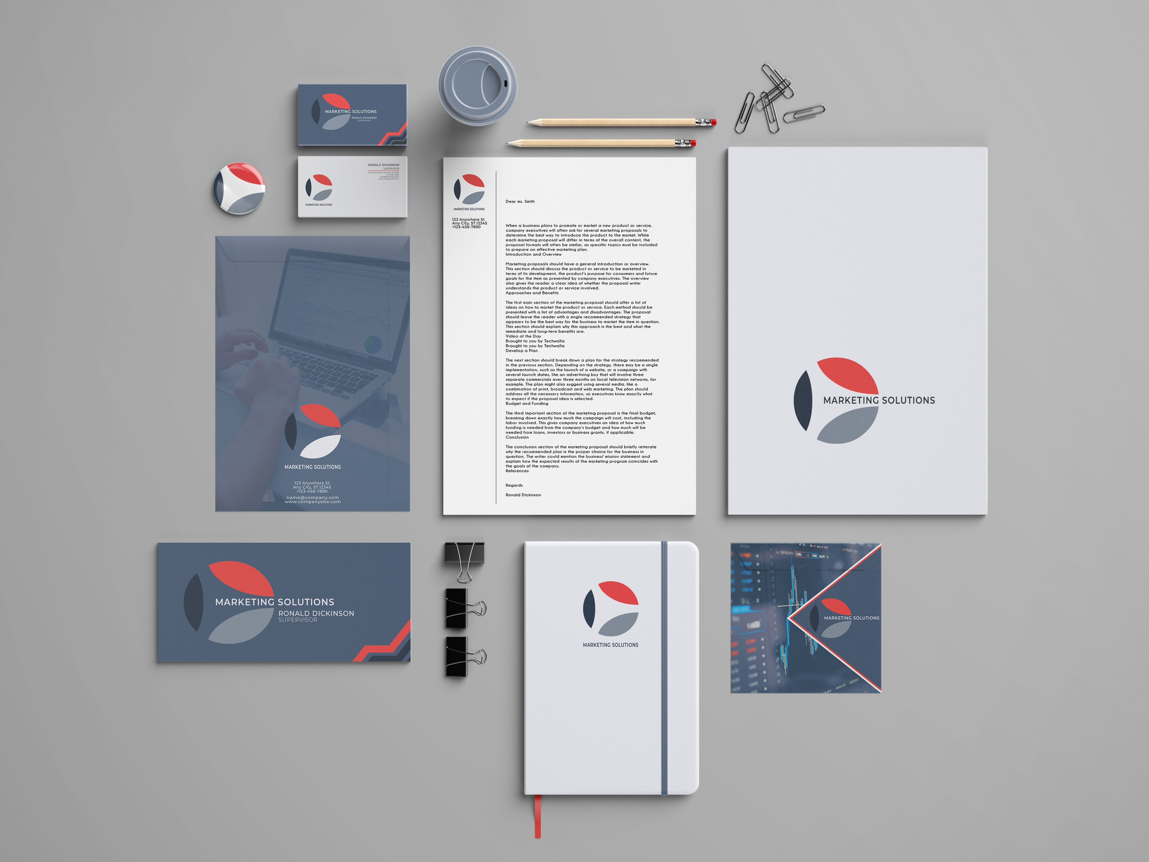 Marketing Branding Identity - 15  Print Templates Screenshot 3