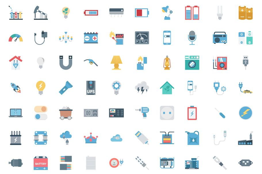 190 Power and Energy Color Vector Icon Pack Screenshot 2