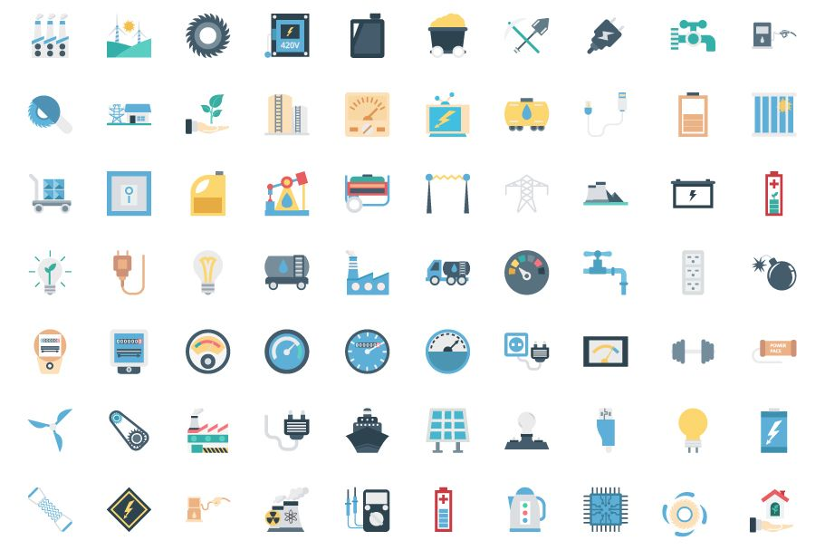 190 Power and Energy Color Vector Icon Pack Screenshot 3