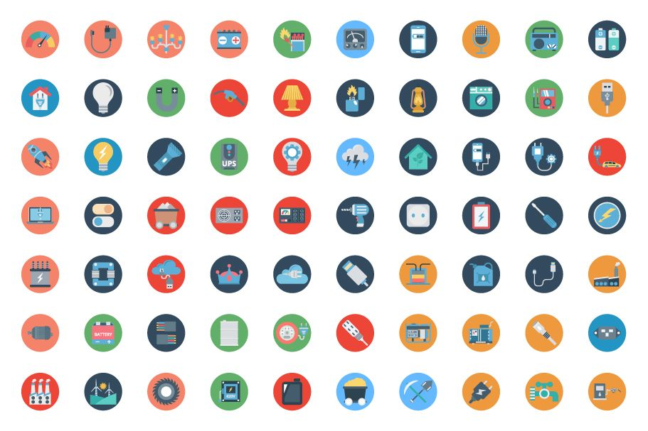 190 Power and Energy Color Vector Icon Pack Screenshot 5