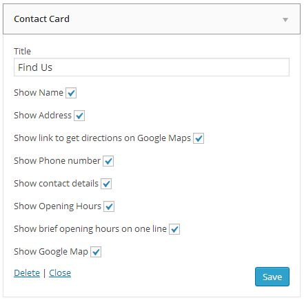 Business Contact Info WordPress Plugin  Screenshot 3