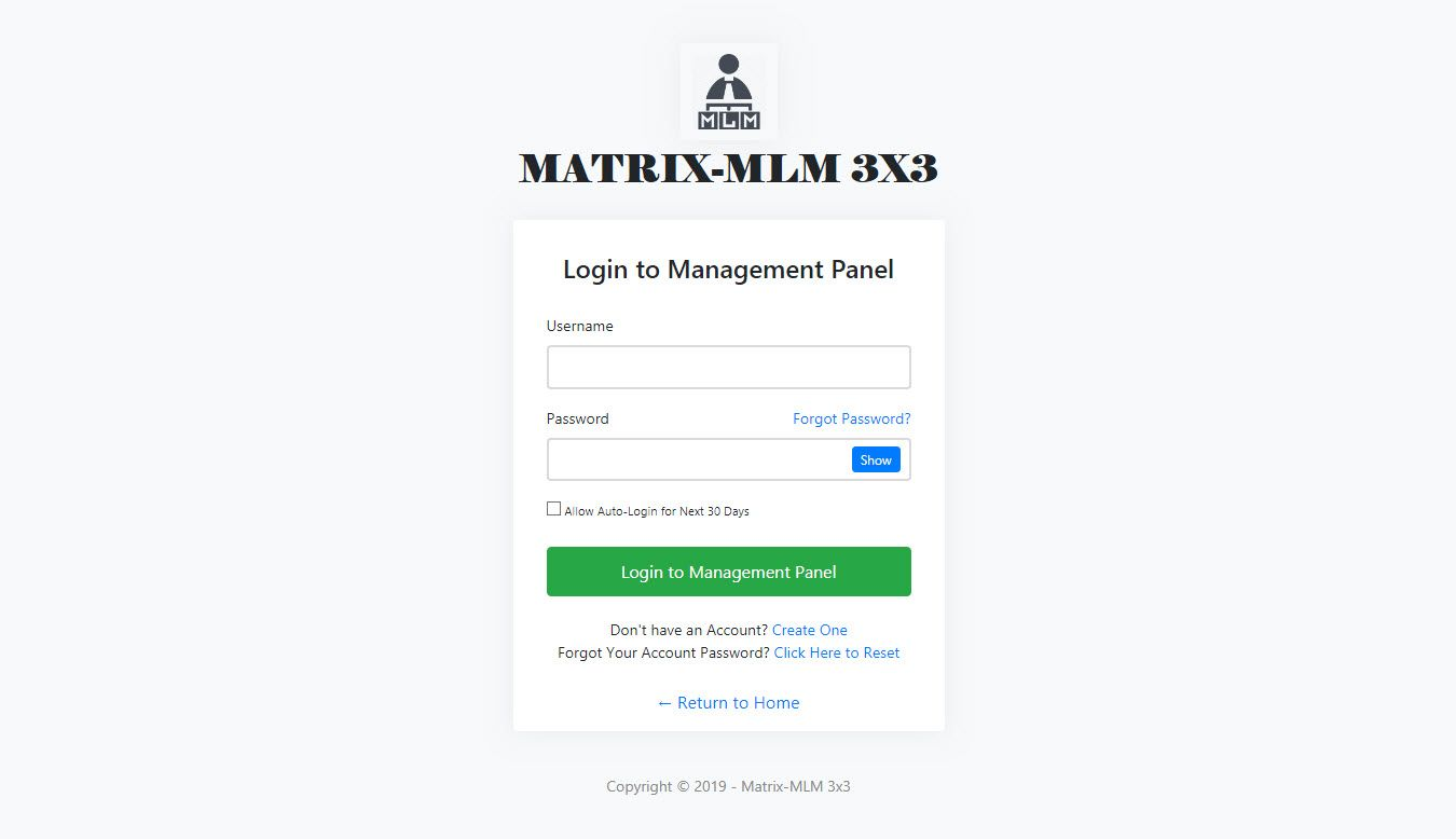 Matrix MLM 3X3 .NET CMS - Forced Matrix AutoMLM Screenshot 4