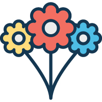 400 Florals & Flower in Different Style Vector