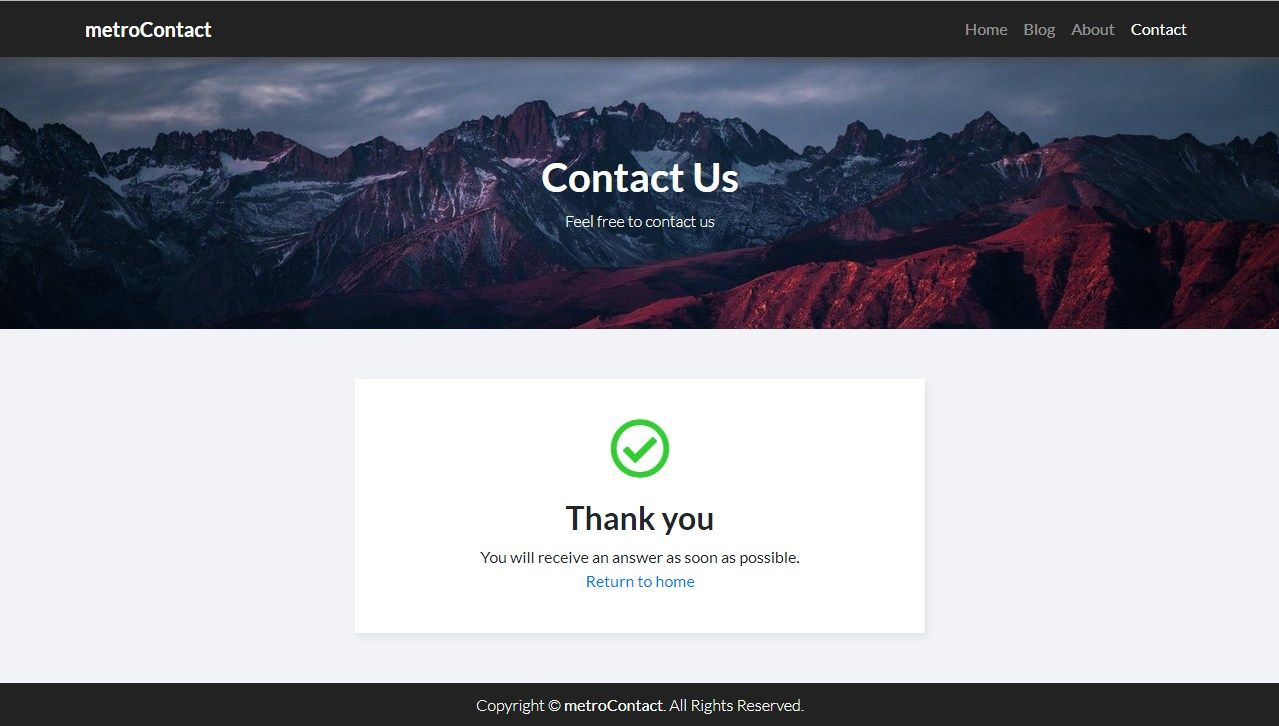MetroContact - PHP Contact Form Template Screenshot 4