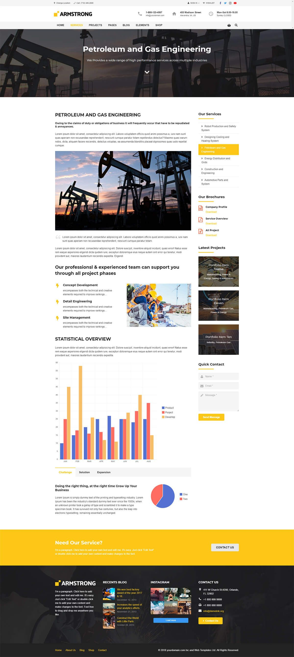 ArmStrong - Factory Industrial WordPress Theme Screenshot 3