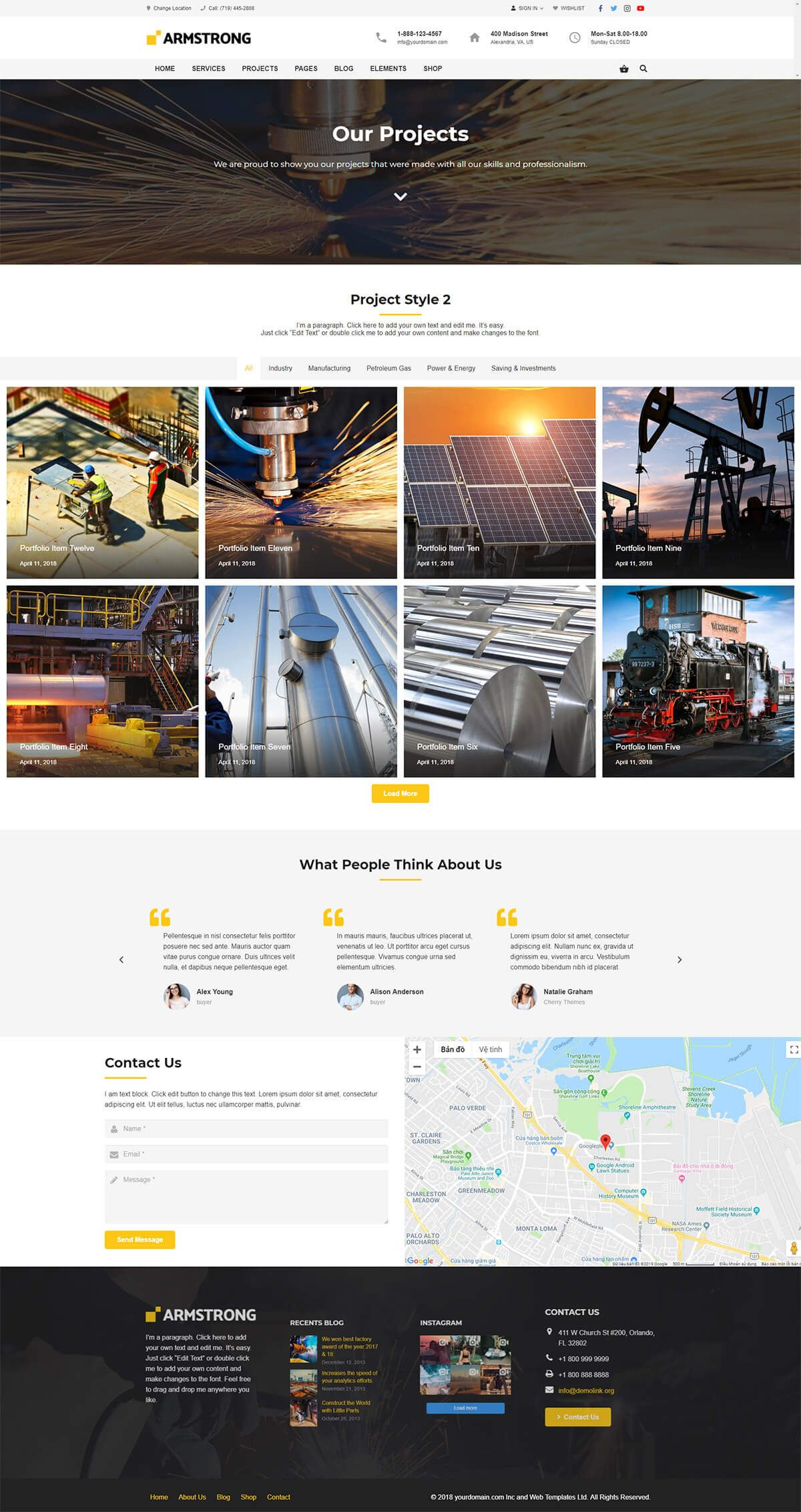 ArmStrong - Factory Industrial WordPress Theme Screenshot 4