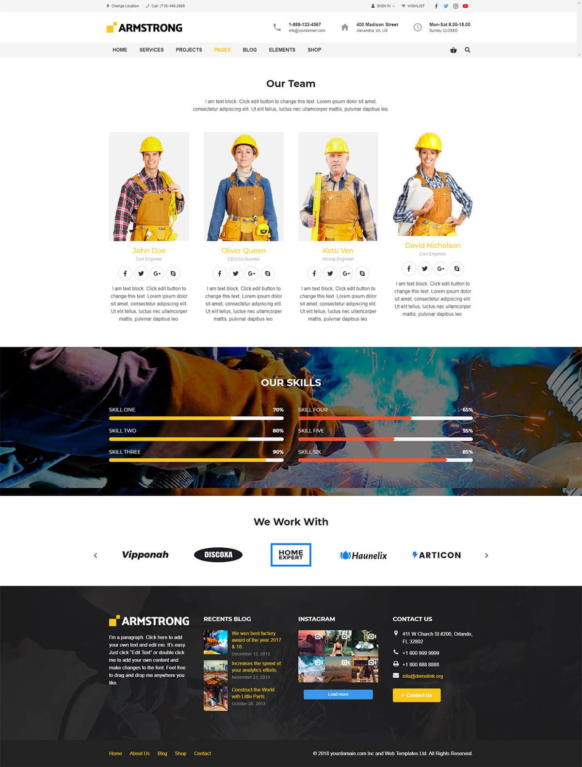 ArmStrong - Factory Industrial WordPress Theme Screenshot 6