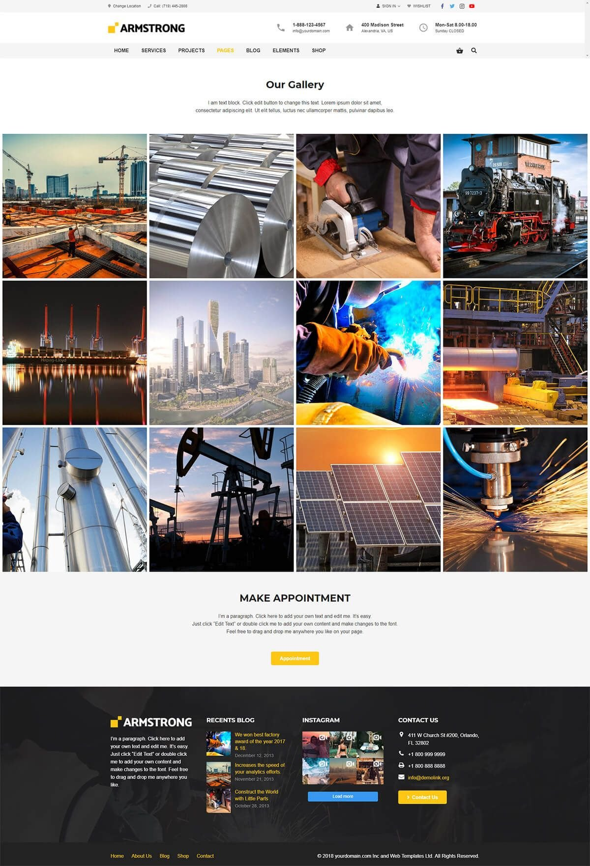 ArmStrong - Factory Industrial WordPress Theme Screenshot 7