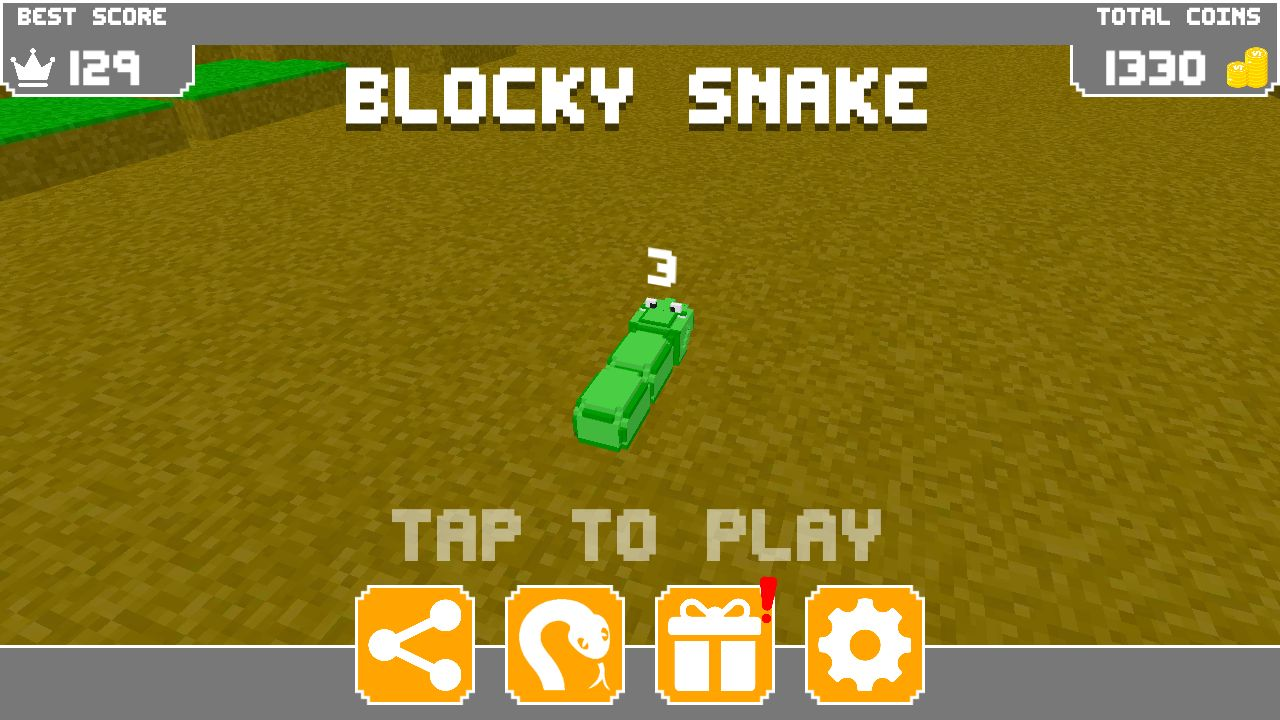 Blocky Snake - Unity Game Template Screenshot 1
