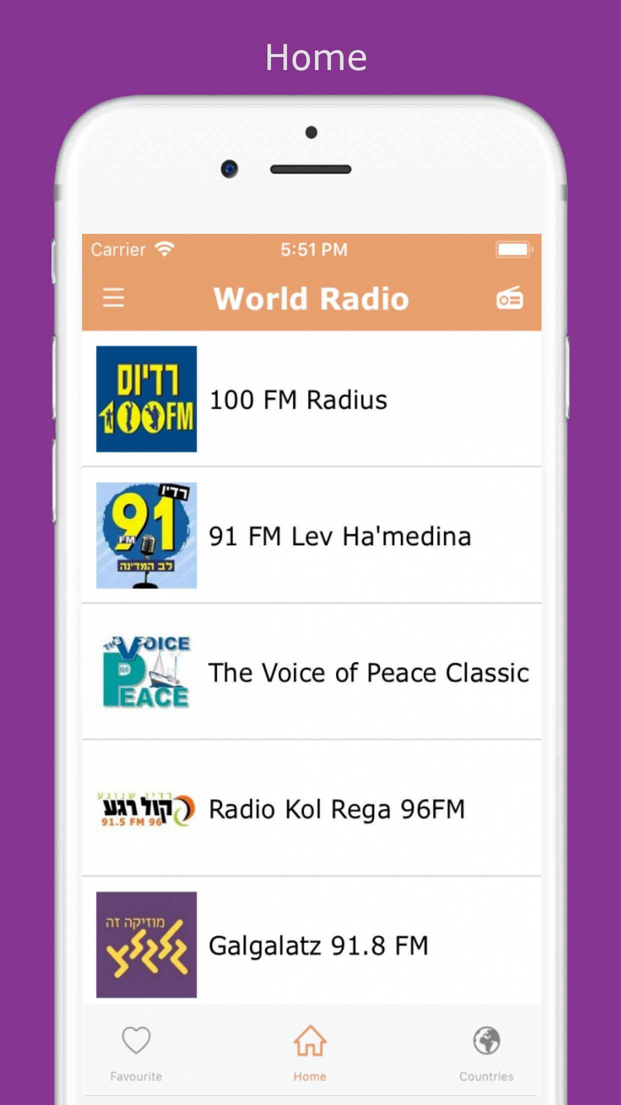 World Radio - iOS Source Code Screenshot 1