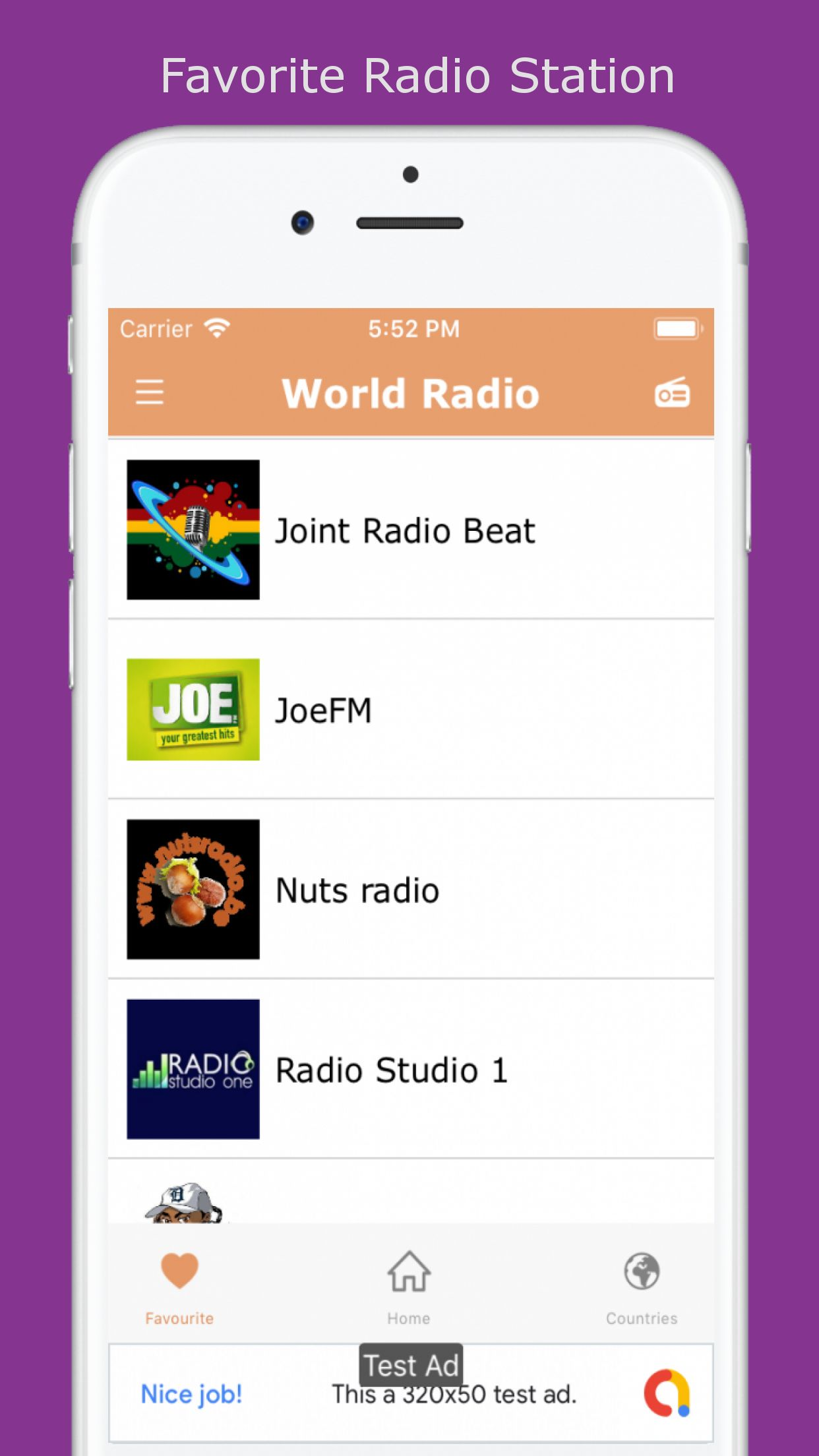 World Radio - iOS Source Code Screenshot 2