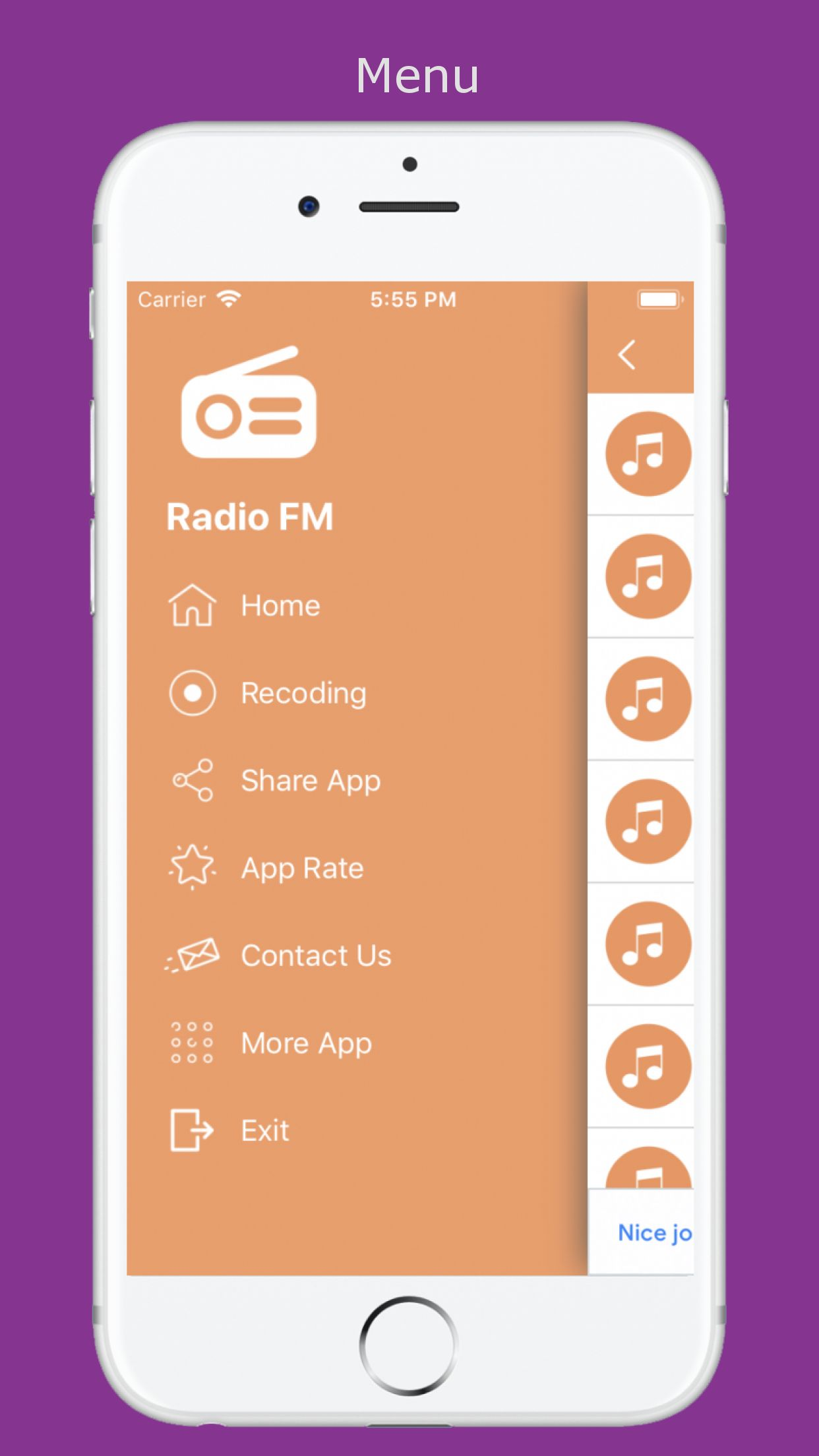World Radio - iOS Source Code Screenshot 3
