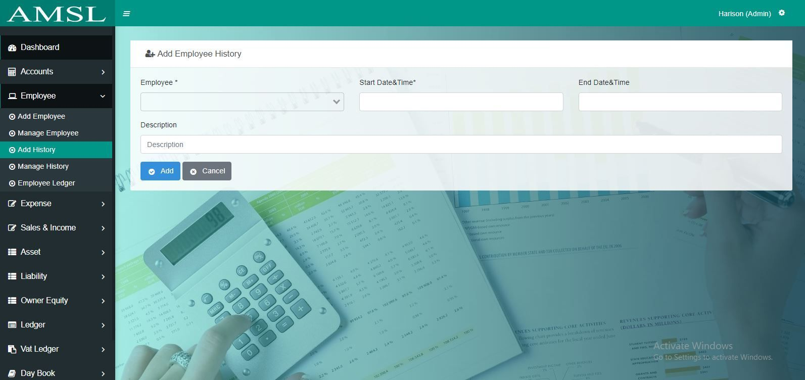 AMSL - Service Based Accounting Management System  Screenshot 3