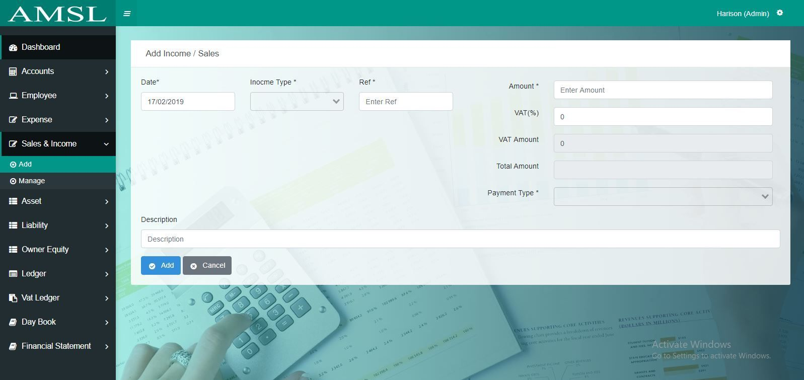 AMSL - Service Based Accounting Management System  Screenshot 5