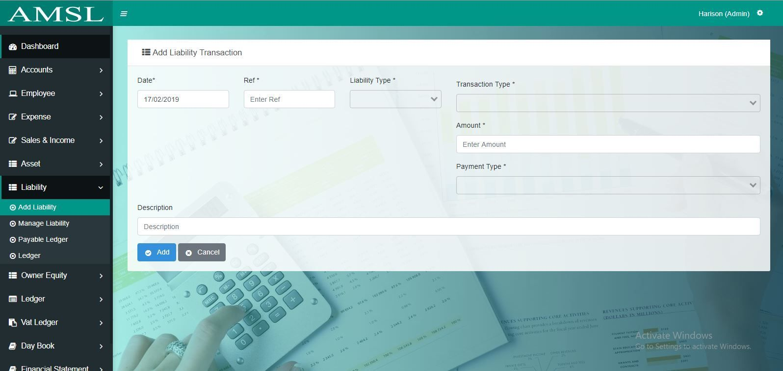 AMSL - Service Based Accounting Management System  Screenshot 6