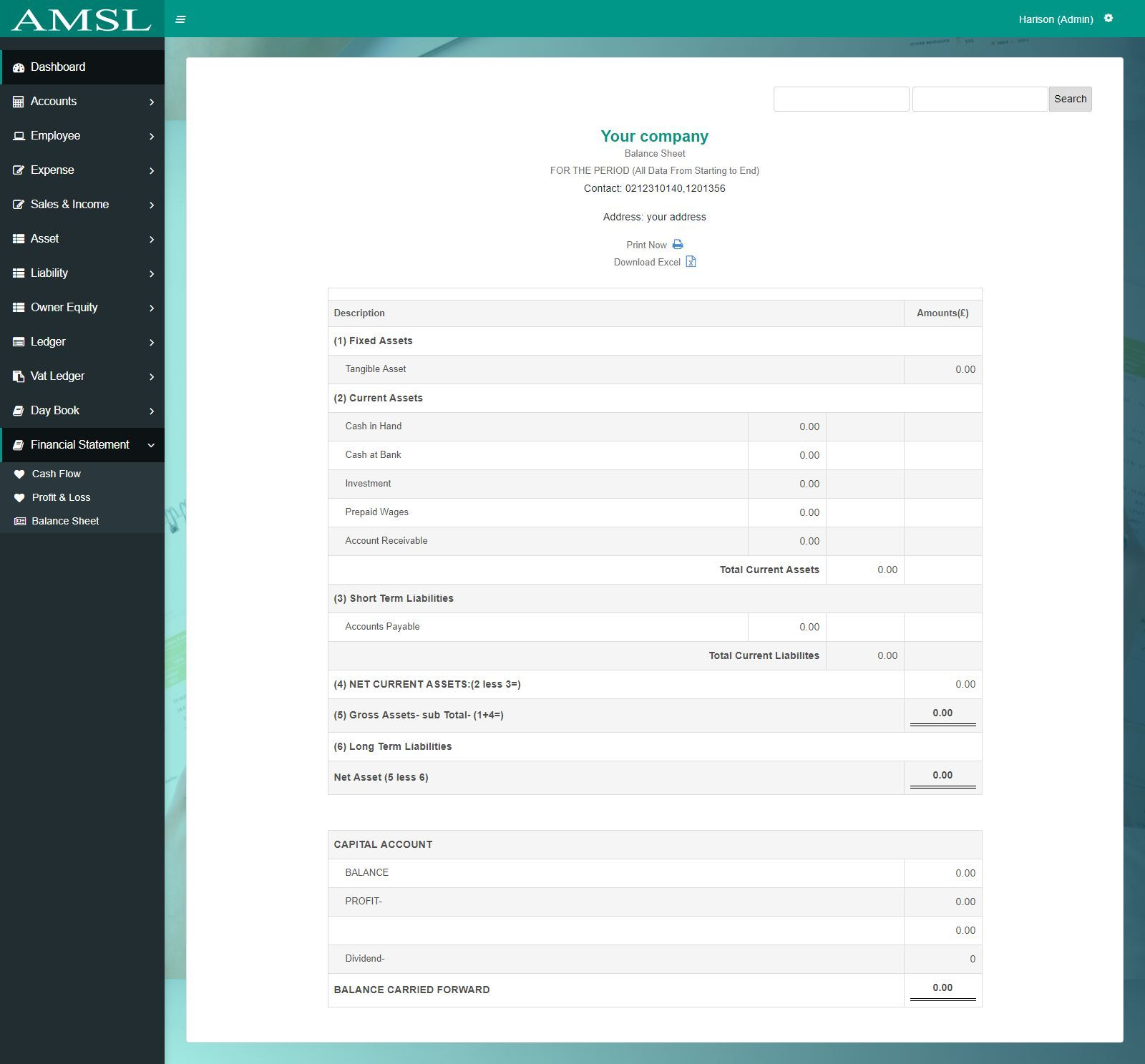 AMSL - Service Based Accounting Management System  Screenshot 8