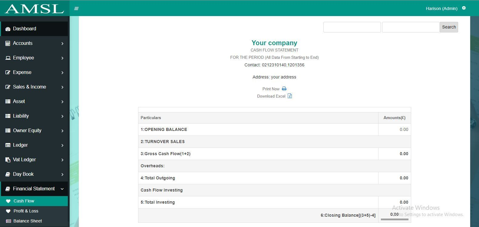 AMSL - Service Based Accounting Management System  Screenshot 9