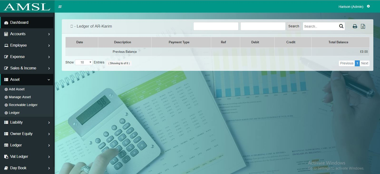 AMSL - Service Based Accounting Management System  Screenshot 10