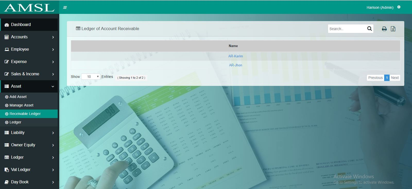 AMSL - Service Based Accounting Management System  Screenshot 11