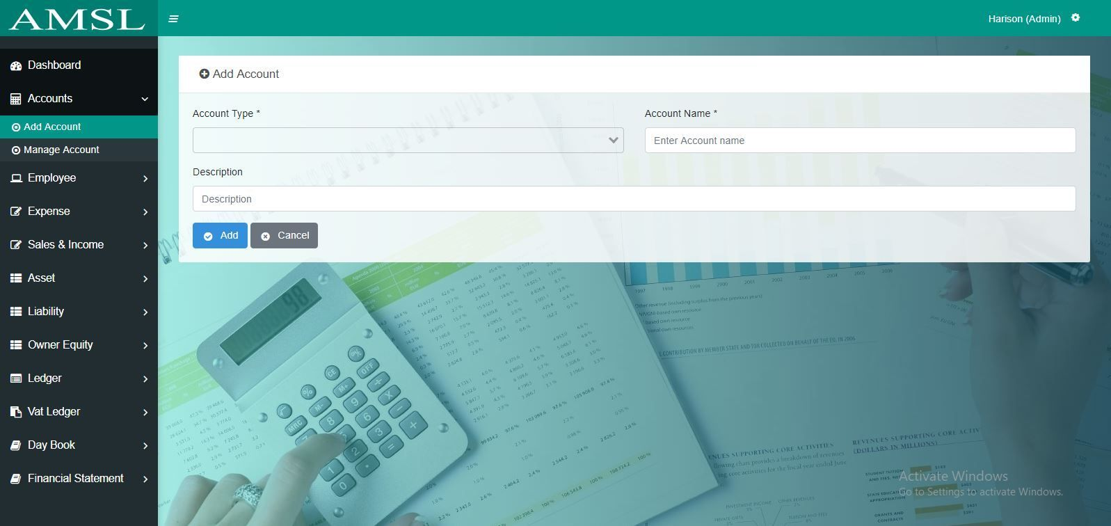AMSL - Service Based Accounting Management System  Screenshot 14