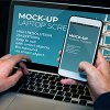 Laptop And Mobile Screen MockUp - PSD Template