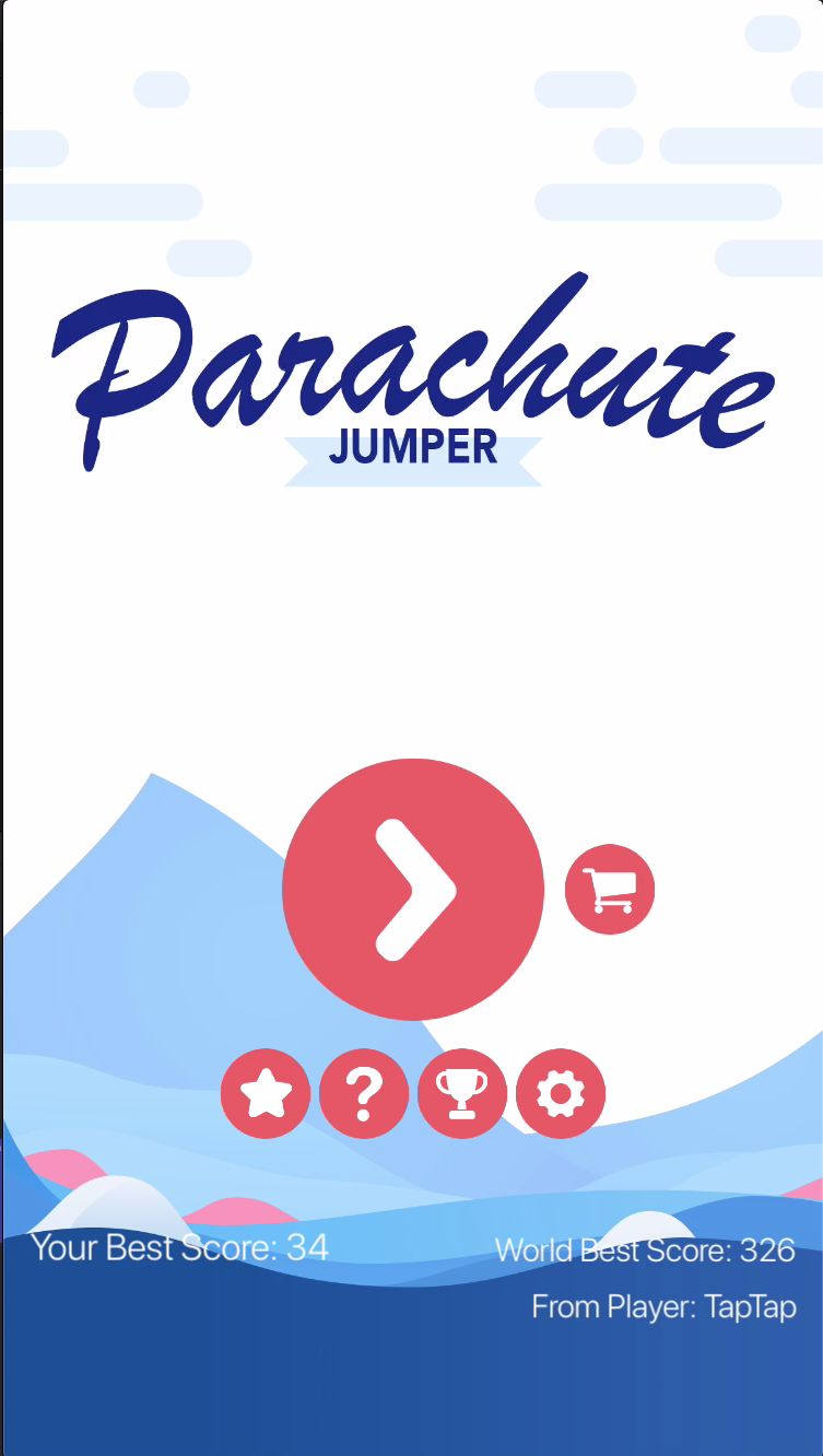 Parachute Jumper - iOS Source Code Screenshot 1