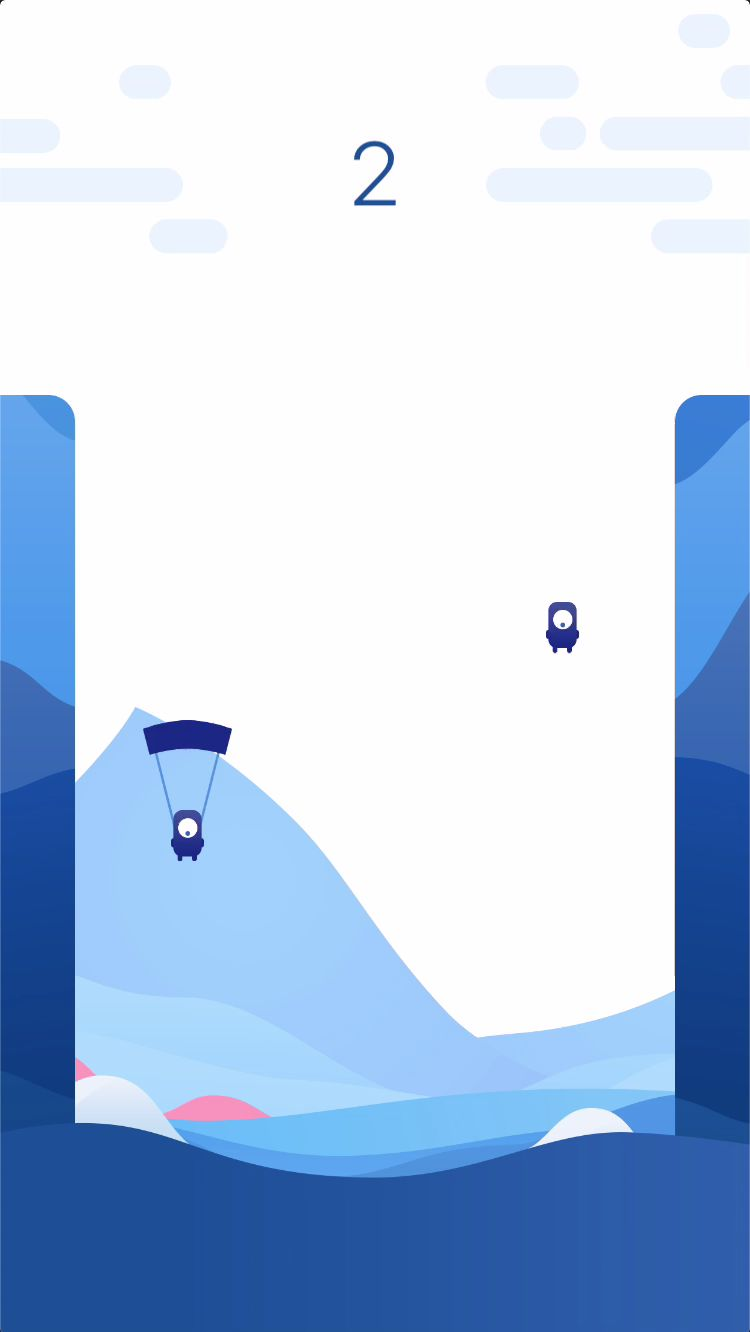 Parachute Jumper - iOS Source Code Screenshot 3