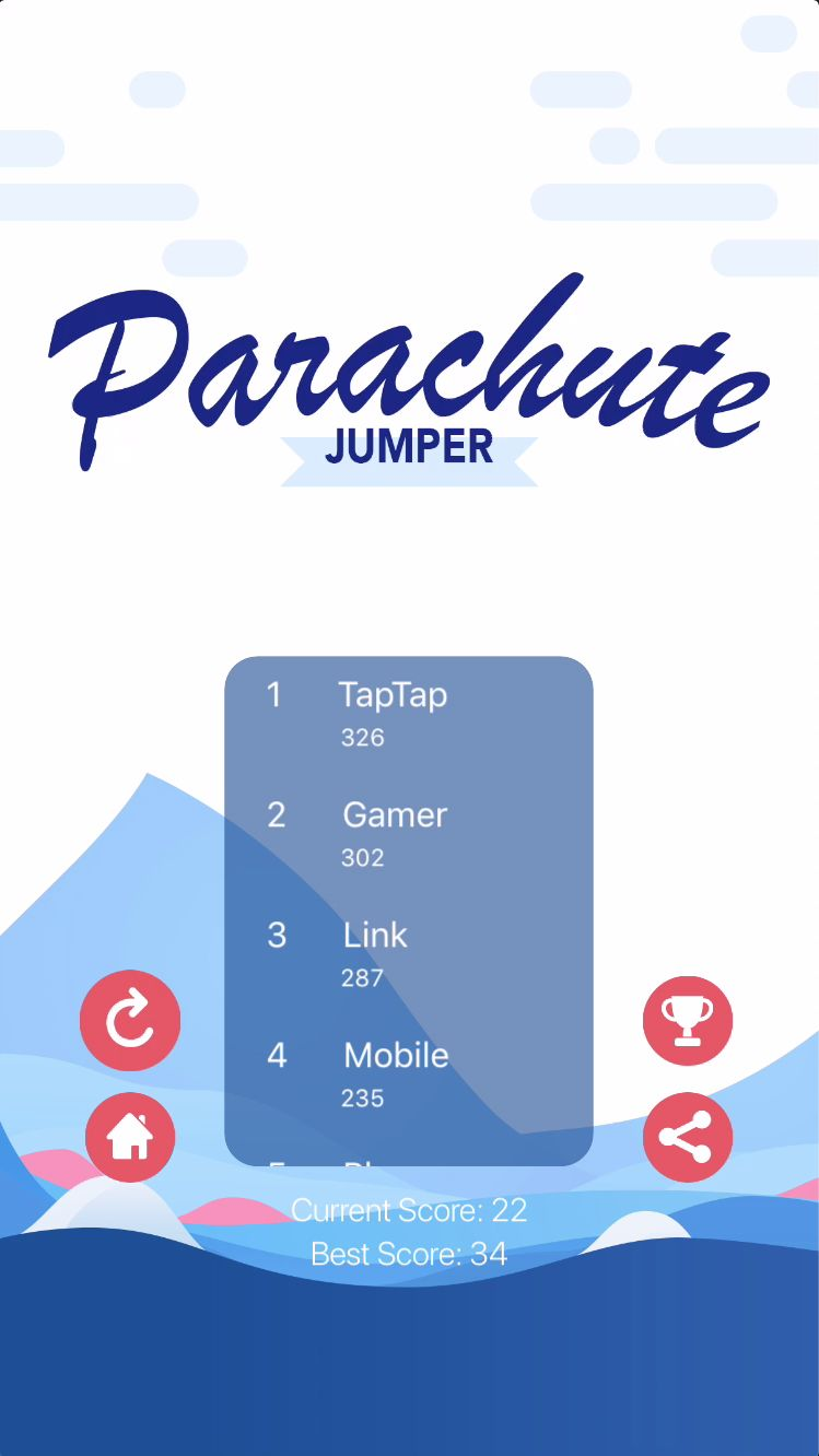 Parachute Jumper - iOS Source Code Screenshot 5