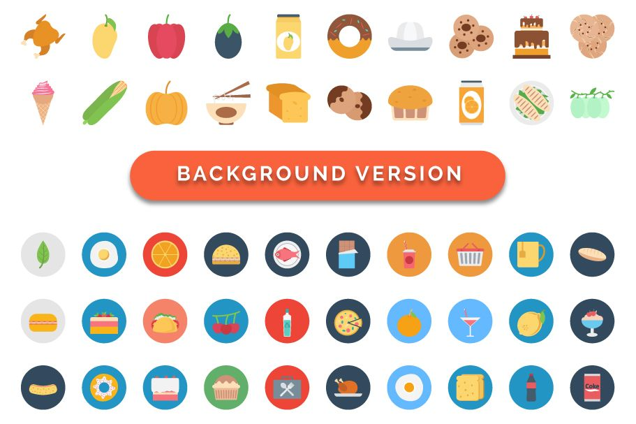 260 Food Color Vector Icons Pack Screenshot 3