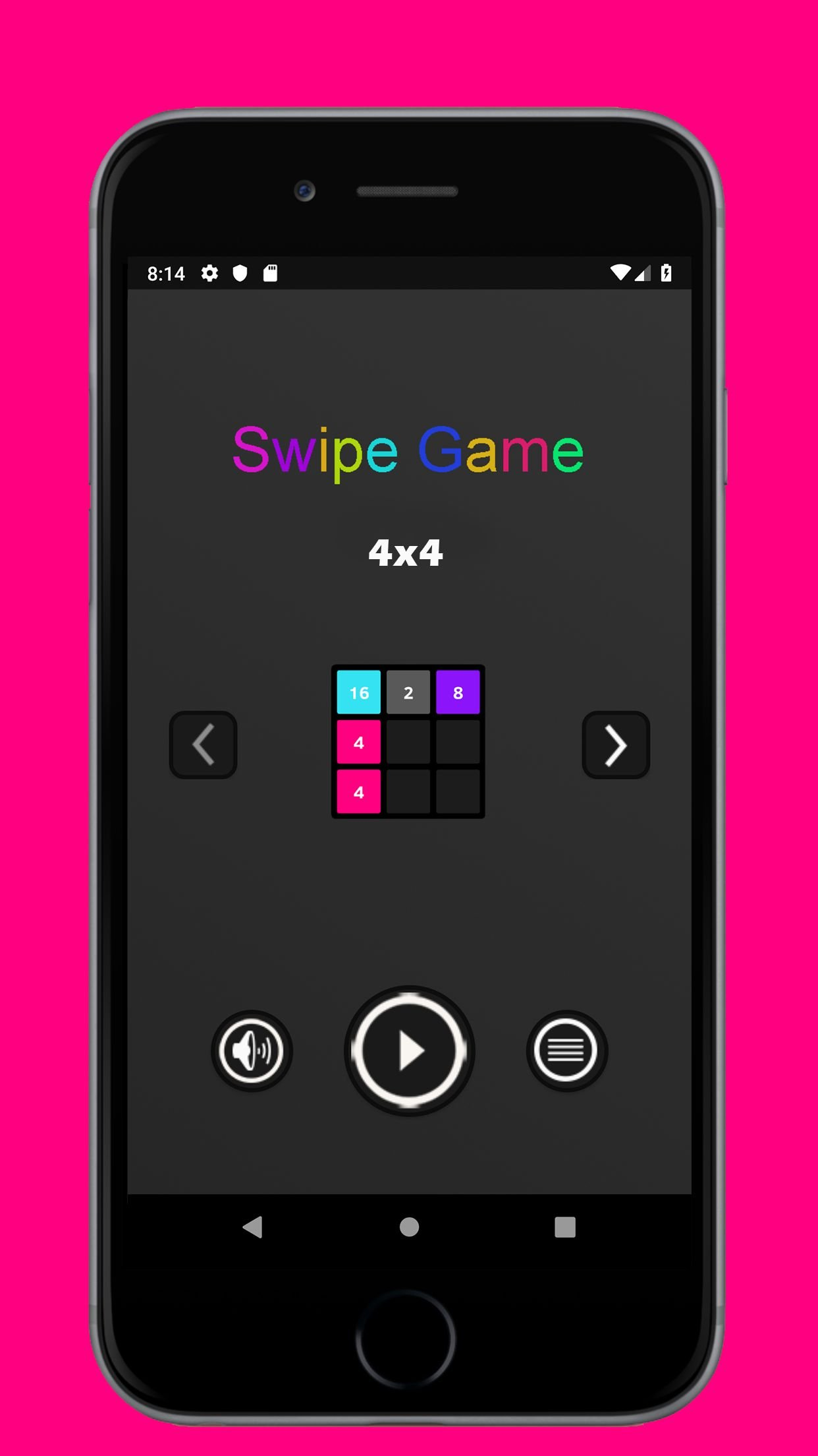 Swipe Game Version Basic - Android Template Screenshot 1