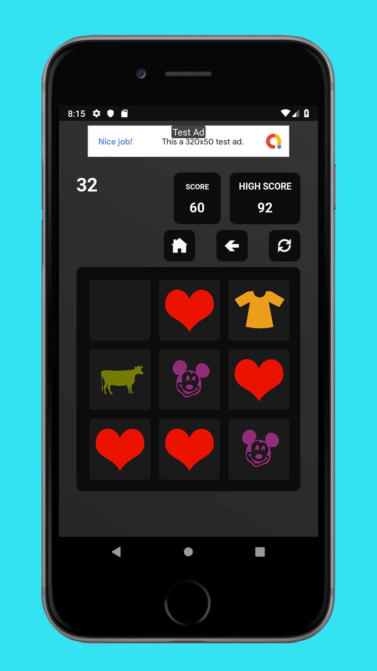 Swipe Game Version Basic - Android Template Screenshot 4