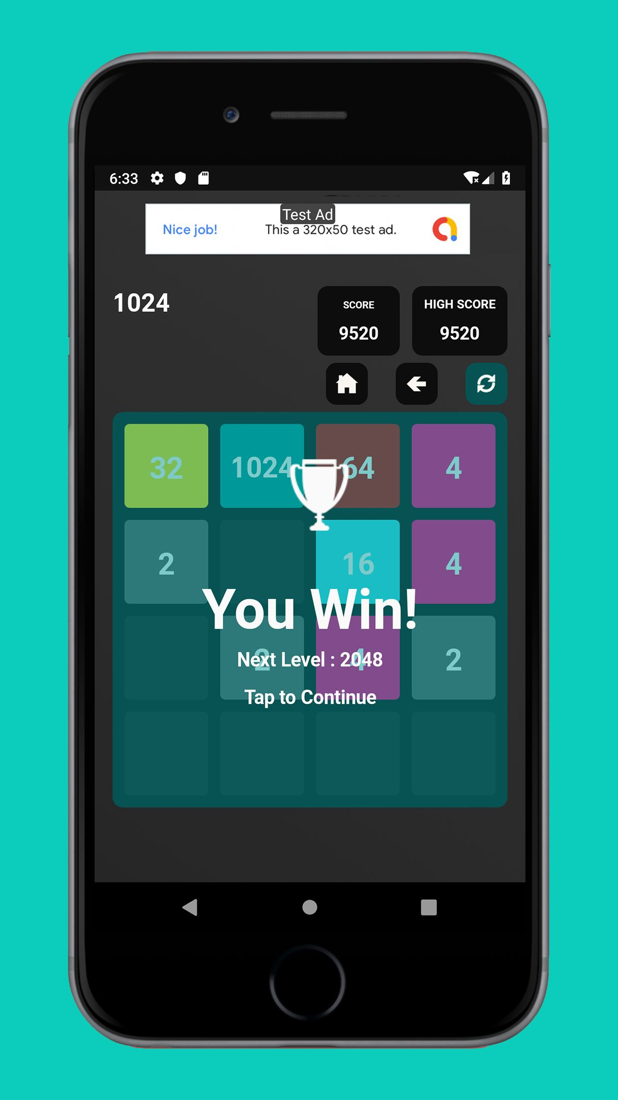 Swipe Game Version Basic - Android Template Screenshot 5