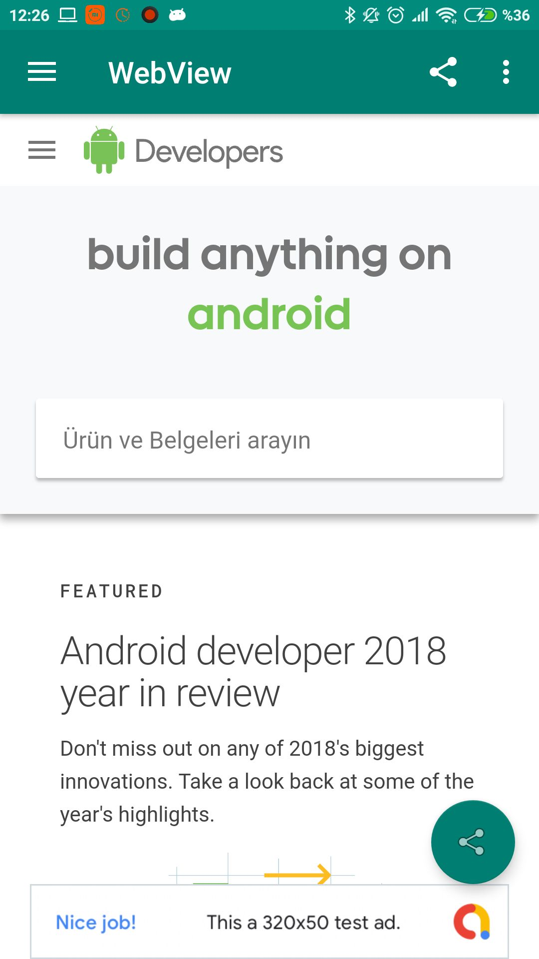 Advanced Android WebView App Screenshot 1
