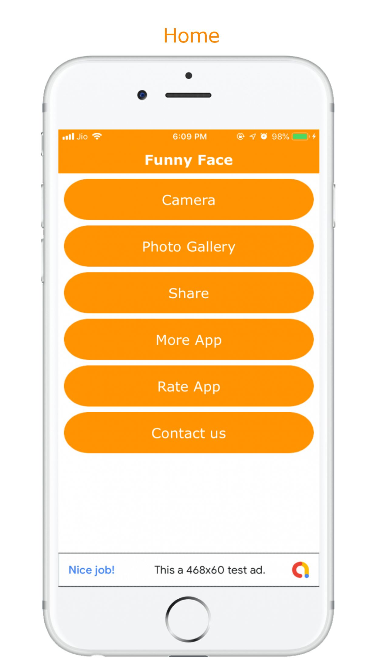 Funny Face Maker - iOS Source Code Screenshot 1