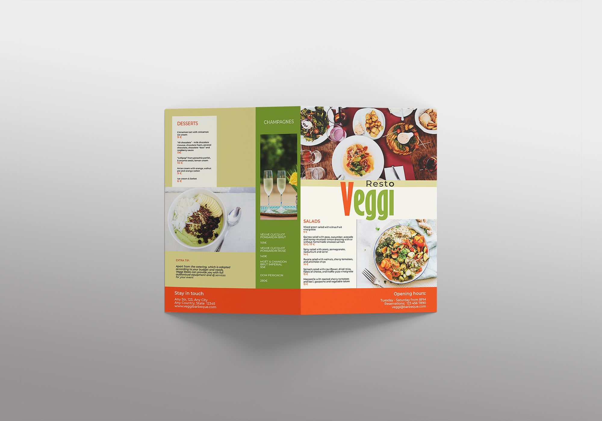 Vegan Menu Bifold Brochure A3 - 2 Templates Screenshot 10