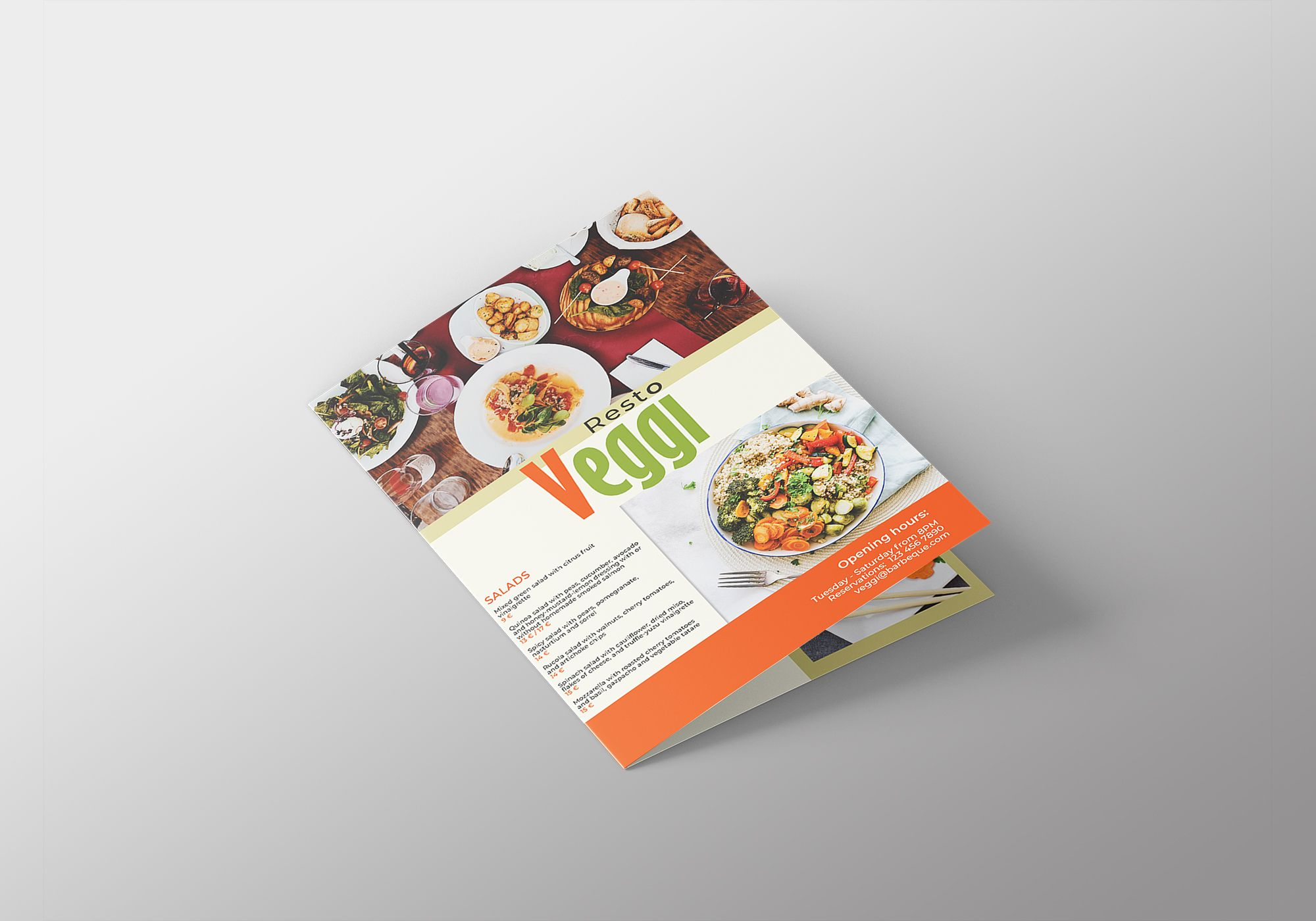 Vegan Menu Bifold Brochure A3 - 2 Templates Screenshot 11