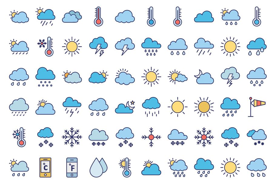 440 Weather Vector Icons Pack  Screenshot 2