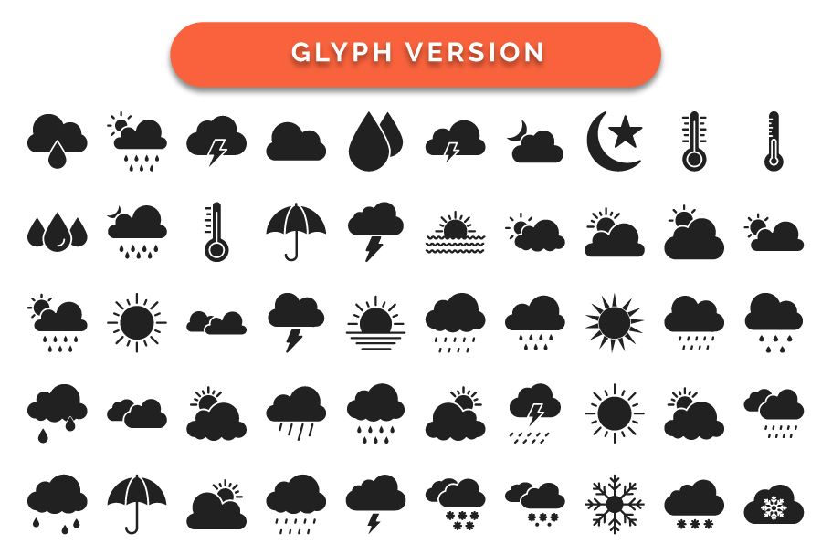 440 Weather Vector Icons Pack  Screenshot 3