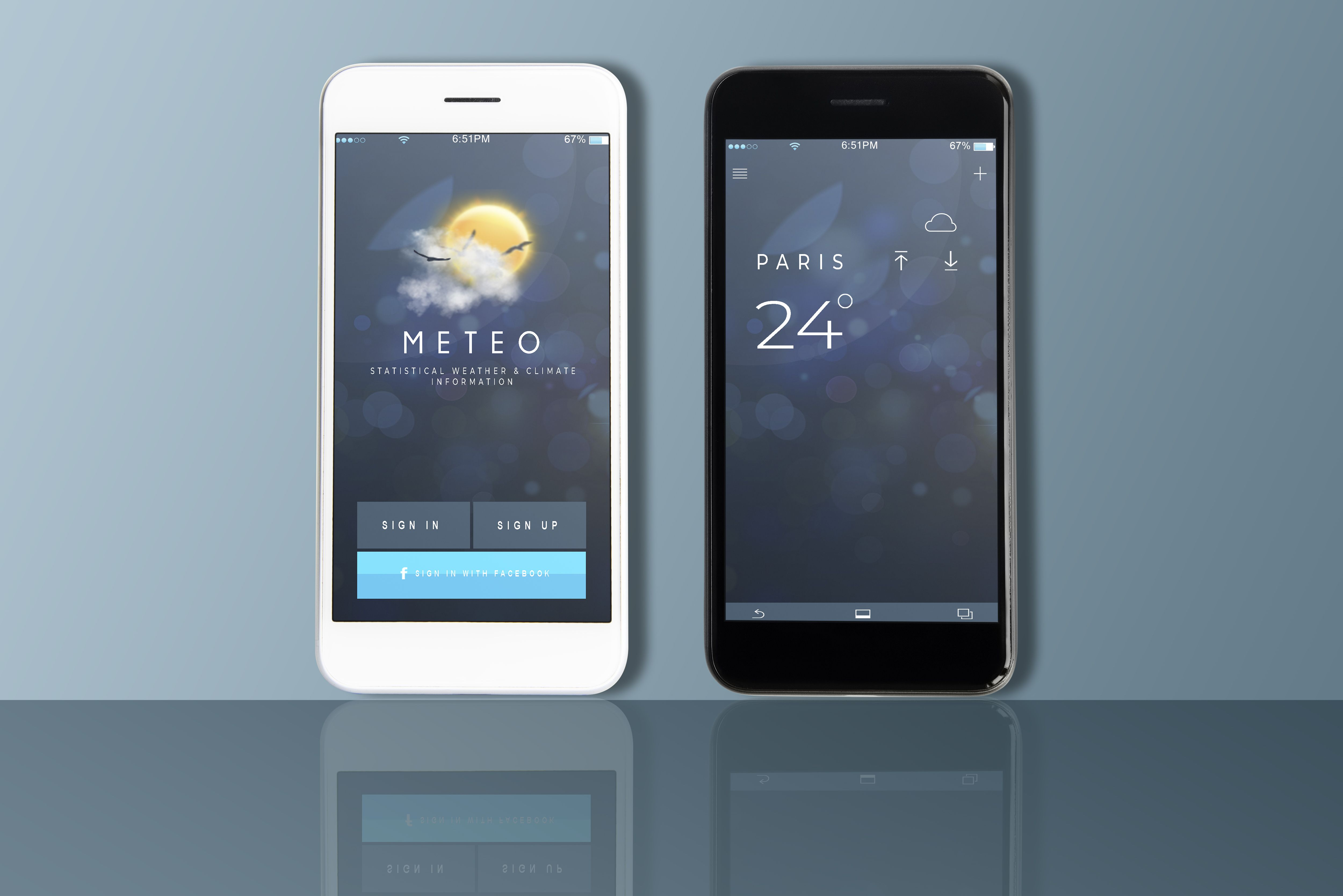 Mobile UI Kit Weather App - 6 PSD Templates  Screenshot 2