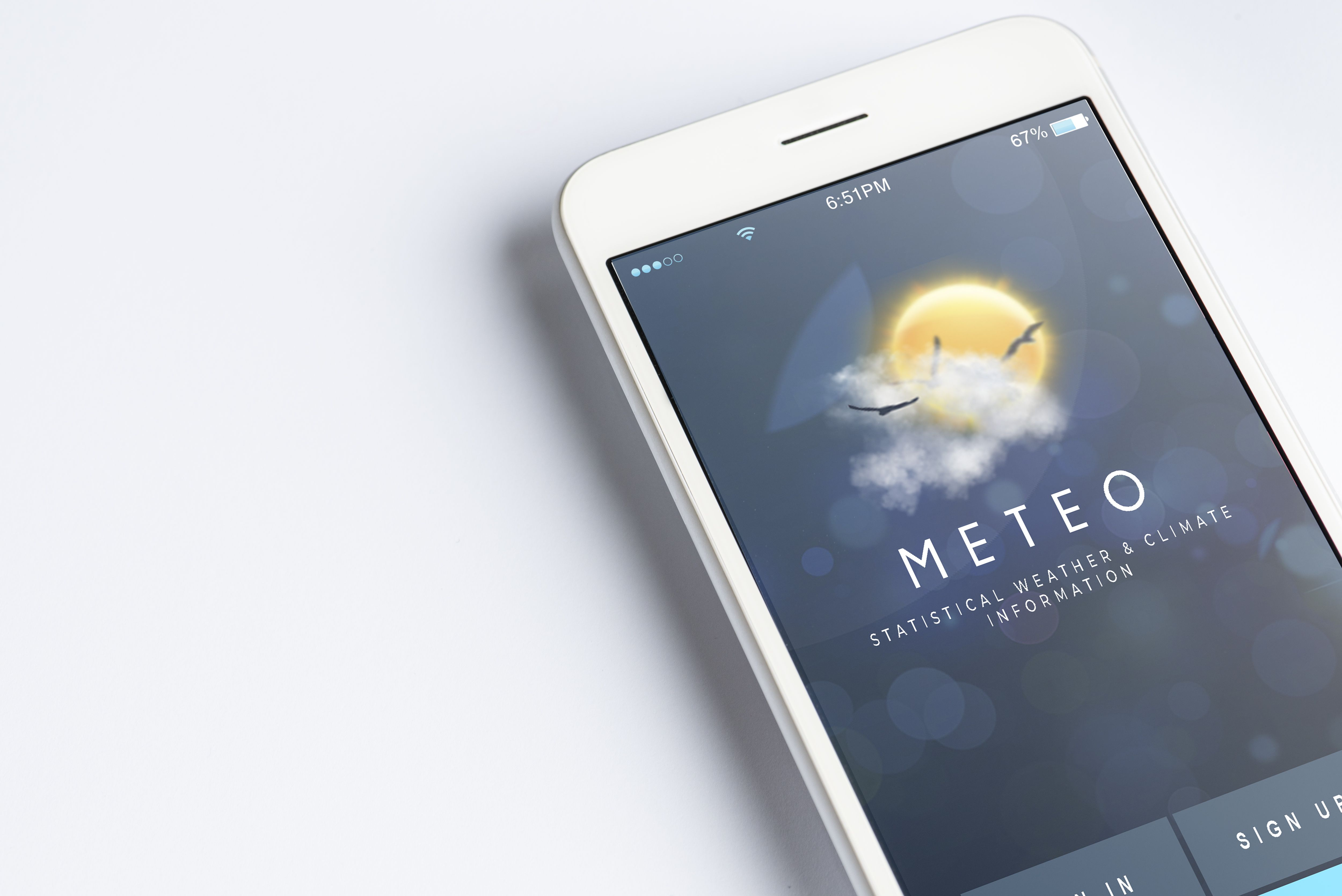 Mobile UI Kit Weather App - 6 PSD Templates  Screenshot 5