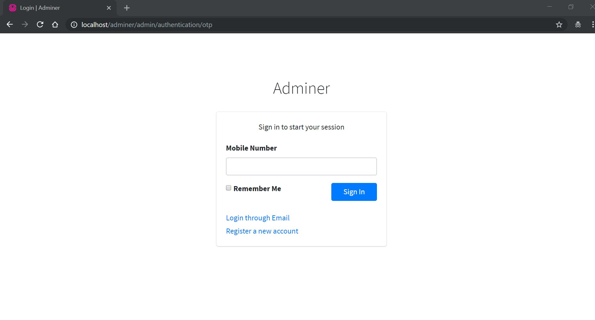 Adminer - PHP Authentication And User Management Screenshot 6